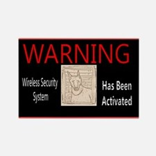 WARNING-Wireless Security Doberman Rectangl Magnet
