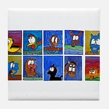 Simon's Zoo Party! Tile Coaster