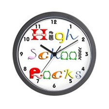 High School Rocks Wall Clock