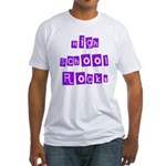 High School Rocks Fitted T-Shirt