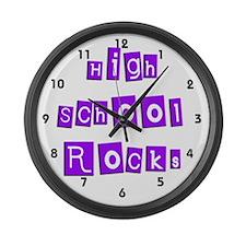 High School Rocks Large Wall Clock