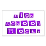 High School Rocks Rectangle Sticker
