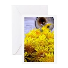Cool Dandelion art Greeting Card
