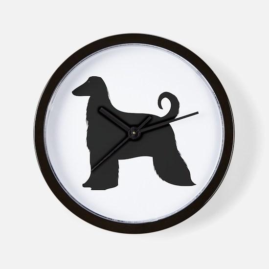 Cute Afghan hound Wall Clock