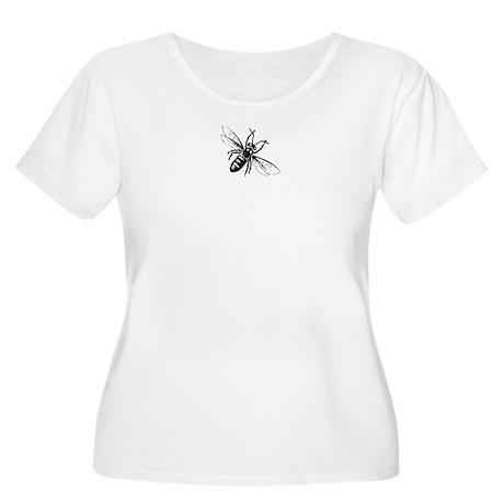 Honey Bee Women's Plus Size Scoop Neck T-Shirt