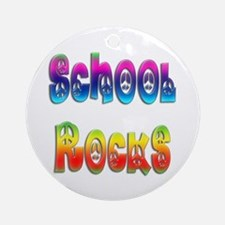 School Rocks Ornament (Round)