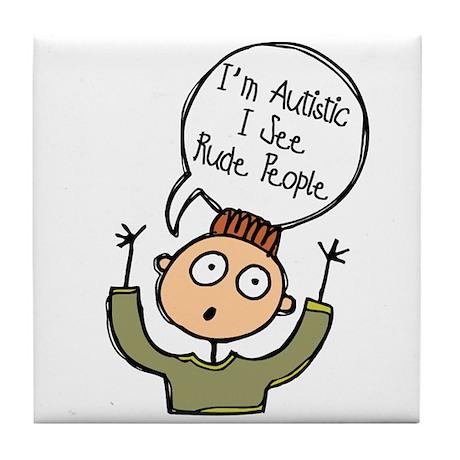I'm Autistic - Boy Tile Coaster