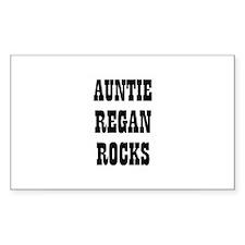 AUNTIE REGAN ROCKS Rectangle Decal