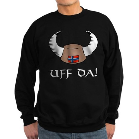Uff Da! Viking Hat Sweatshirt (dark)