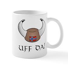 Uff Da! Viking Hat Small Mugs