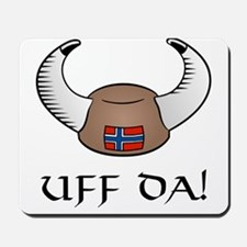 Uff Da! Viking Hat Mousepad