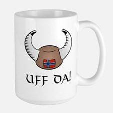 Uff Da! Viking Hat Large Mug
