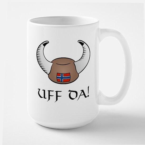 Uff Da! Viking Hat Large Mug