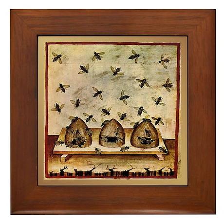 Beekeeping 15th Century Framed Tile