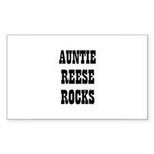 AUNTIE REESE ROCKS Rectangle Decal