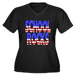 School Rocks Women's Plus Size V-Neck Dark T-Shirt