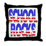 School Rocks Throw Pillow