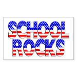 School Rocks Rectangle Sticker
