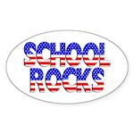 School Rocks Oval Sticker