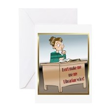 Librarian Voice Greeting Card
