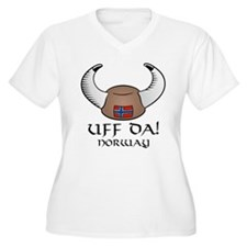 Uff Da! Norway Viking Hat T-Shirt