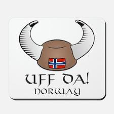 Uff Da! Norway Viking Hat Mousepad