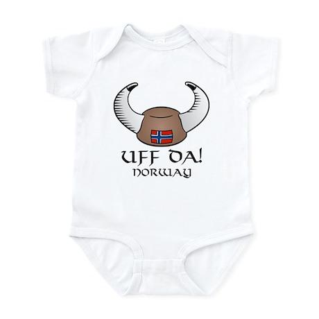 Uff Da! Norway Viking Hat Infant Bodysuit