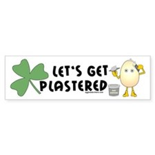 Plastered Shamrock Bumper Bumper Sticker