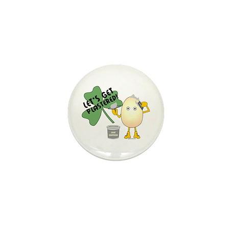 Plastered Shamrock Mini Button (10 pack)