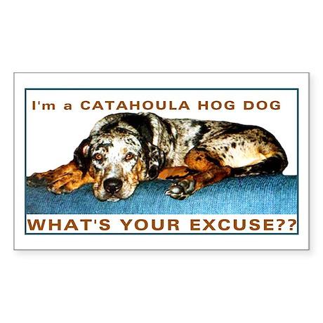 catahoula hog dog Rectangle Sticker