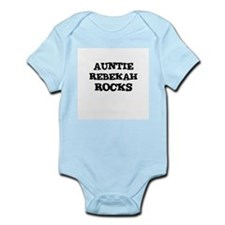 AUNTIE REBEKAH ROCKS Infant Creeper