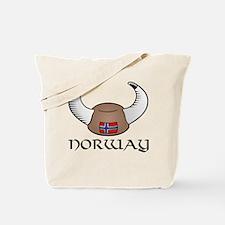 Norway Viking Hat (color) Tote Bag