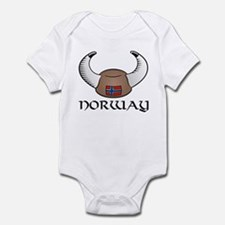 Norway Viking Hat (color) Infant Bodysuit