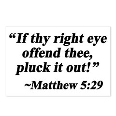 Matthew 5:29 Postcards (Package of 8)