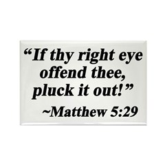 Matthew 5:29 Rectangle Magnet (10 pack)