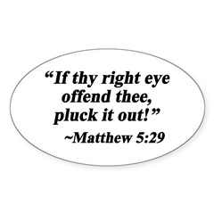 Matthew 5:29 Oval Decal