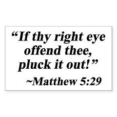 Matthew 5:29 Rectangle Decal