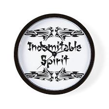 Indomitable Spirit Wall Clock