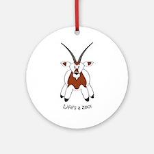 Scimitar-horned Oryx Ornament (Round)