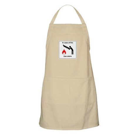 In Case of Fire Use Stairs BBQ Apron