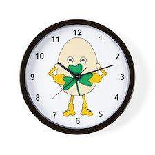 Shamrock Egghead Wall Clock