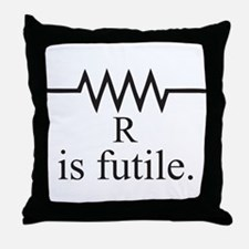 Resistance is futile Throw Pillow