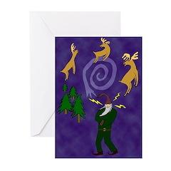 Santa the Shaman Greeting Cards