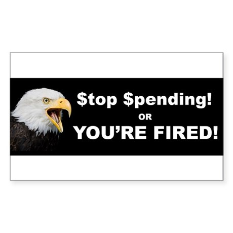 Stop Spending Bumper Sticker