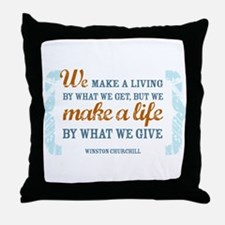 Make a Life Throw Pillow