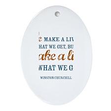 Make a Life Ornament (Oval)