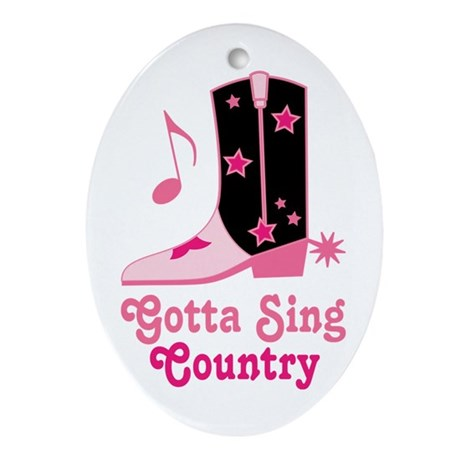 Gotta Sing Country Oval Ornament