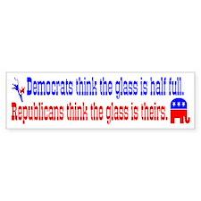 Democrats Vs. Republicans Bumper Bumper Sticker