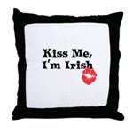 Kiss Me, I'm Irish Throw Pillow