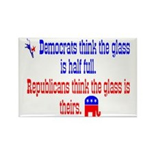 Democrats Vs. Republicans Rectangle Magnet